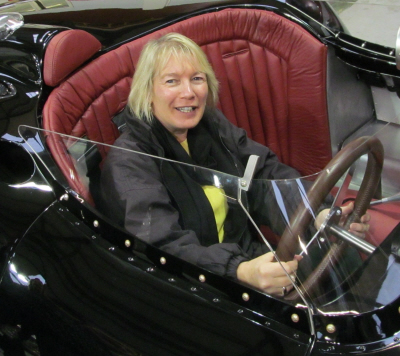 Letitia Mace at Lister Cars