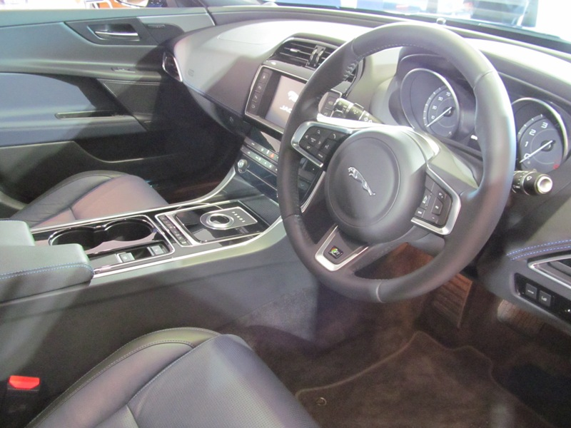 Jaguar XE interior, Pentland Jaguar, Edinburgh