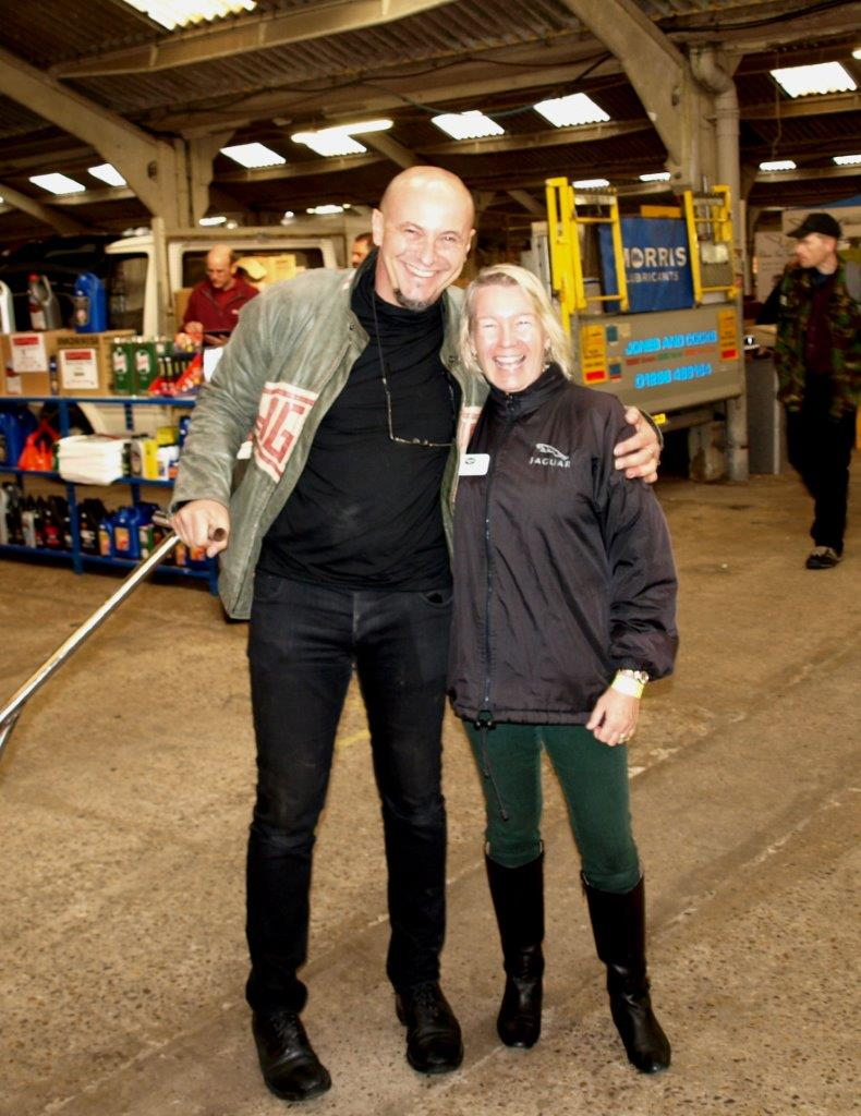 Georg Dönni and Letitia Mace at Jaguar Spares Day
