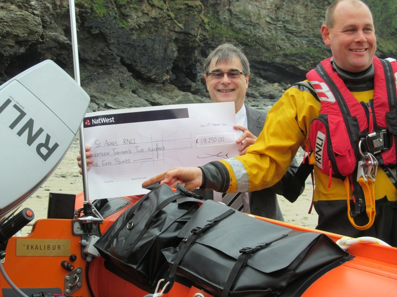 Rob Jenner and St Agnes Lifeboat