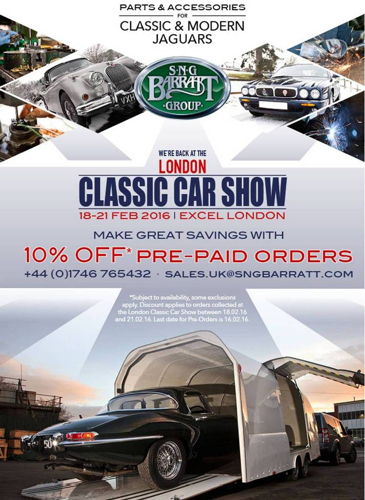 SNG Barratt at London Classic Car Show