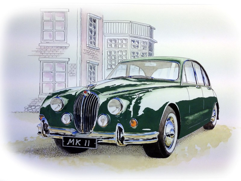 Jaguar Mark 2 by Watercolour Classics