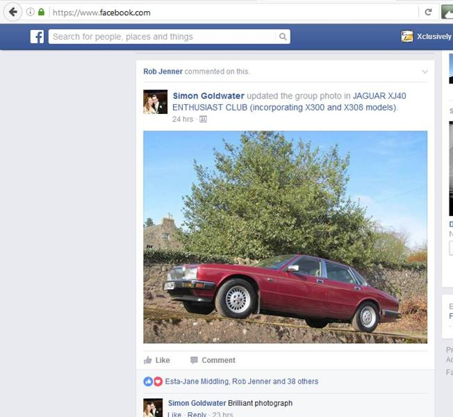 Jaguar XJ40 E264 OMP on Facebook