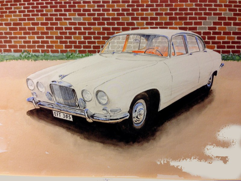 Jaguar Mark 10 by Watercolour Classics