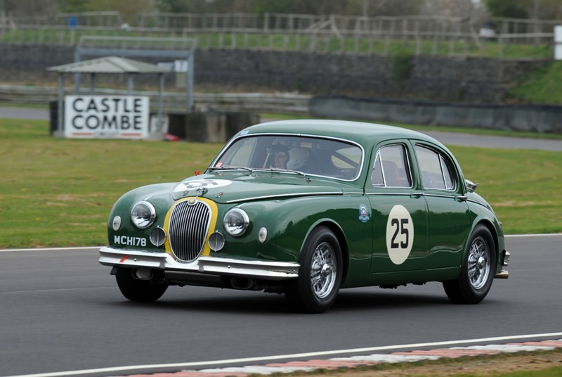 Simon Lewis and Guy Connew at Castle Combe Race Circuit