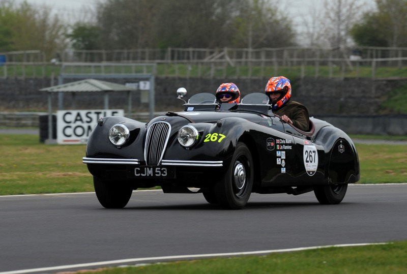 Richard Teal and Chris Mann at Castle Combe Race Circuit