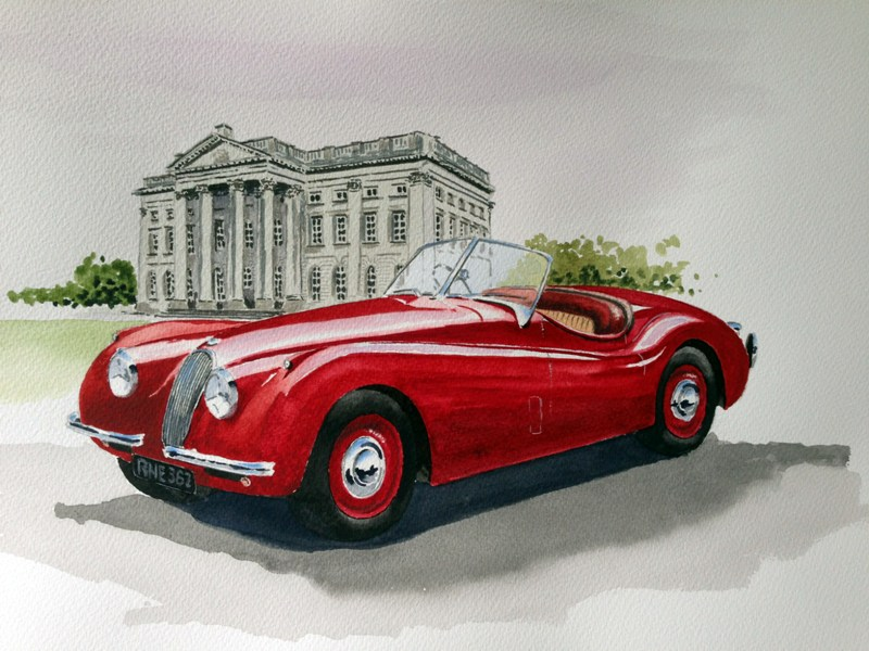 Jaguar XK120 by Watercolour Classics