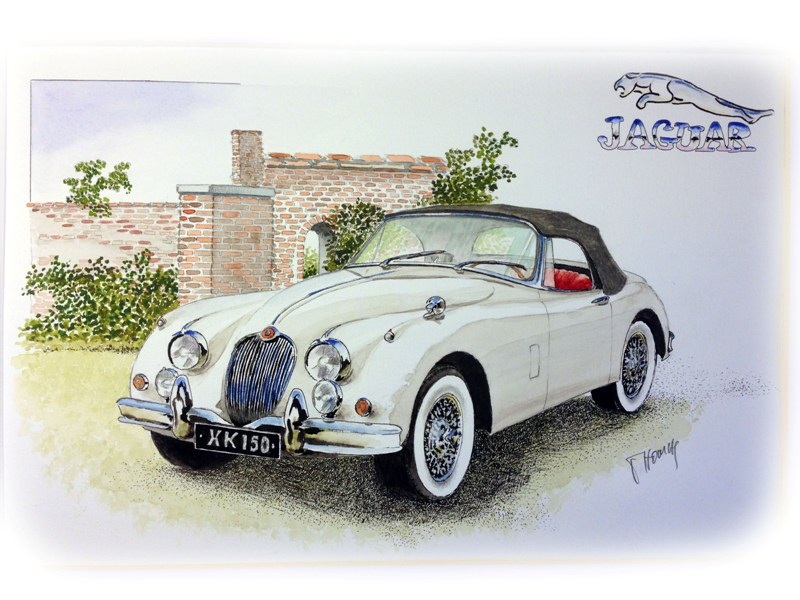 Jaguar XK150 by Watercolour Classics