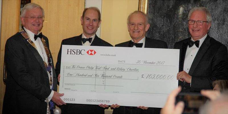 Royal Windsor Jaguar Festival Charity Cheque Presentation